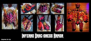 Commission: Inferno Drag-oness Armor by Epic-Leather