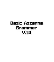 Assanna Basic Grammar by monokroe