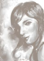 Painterly portrait by DHTenshi