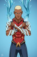 Aqualad 2.0 (Earth-27) commission by phil-cho