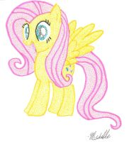 Pointillism Fluttershy by Wotato