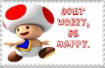 Toad Stamp: Be Happy by vib3s