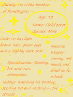 PickPocket Character Page by argan99