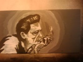 JOHNNY CASH B AND W by duplicity6