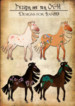 Oriental Geisha Horse Designs for Jian89 by SweetLittleVampire