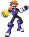 Fanart of Mega Man Chrono X's Flash X Me.M.E.N.T.O by JusteDesserts