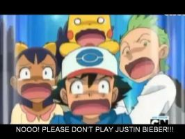 Ash And Friends Don't Like Justin Beiber. XDDDDD by AkxCat