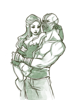 Poison Ivy and Bane by PaolaPieretti