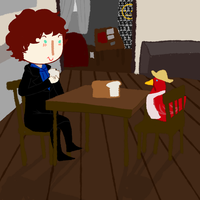 Sherlock and little red hen by Haku-Ellie