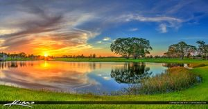 Royal-Palm-Beach-Commons-Park-Sunset-at-Lake by CaptainKimo