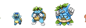 Fakemon Inaba Starter Sprites Revamped by Phatmon66