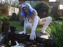 Felicia Darkstalkers - Pond by BunniKez