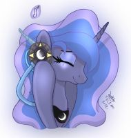 MLP FIM - Princess Luna Love Her Music by Joakaha