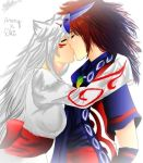 Oki x Ammy kiss by AnaWorld2
