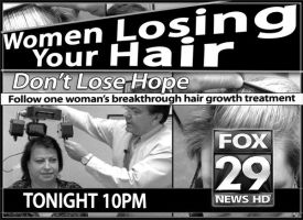 Women Losing Hair Newsprint Ad by PatrickJoseph
