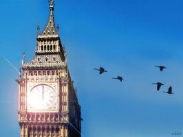 Big Ben Birds by evionn