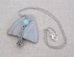 Pretty Eiffel Tower Necklace by MonsterBrandCrafts
