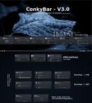 ConkyBar - Conky config [Conky 1.9] by N00by4Ever