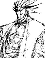 KENPACHI ZARAKI SKETCH by B9TRIBECA