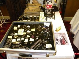 my display at a steampunk con. by gokusonwing0