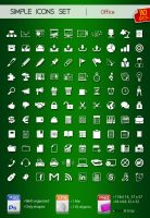 Set of simple icons OFFICE by Sergey-Alekseev