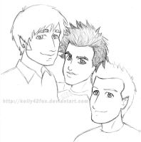 Green Day - sketchdump 7 by kelly42fox