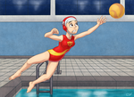 Commission: Water Polo Practice by CartoonSilverFox