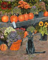 Fall Day at the Flower Market by marcybozung