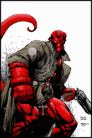 Hellboy, color. by fakou