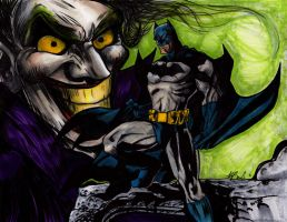 Batman and Joker Cover by Devain