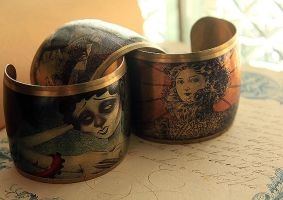Brass Art Cuffs by asunder