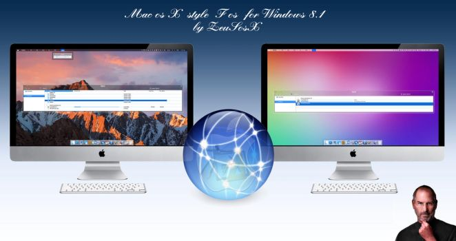 Mac os X F os theme for Windows 8.1 by ZEUSosX