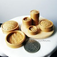 1:12 scale miniature dimsum steamer baskets 2 by Snowfern