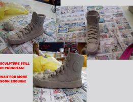 Converse Sculpture In Progress by TheRealTDAGeena