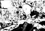 +NeverenD -  inked double page by VanRah