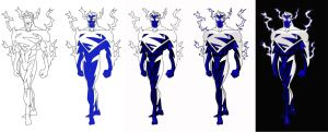 electric superman stages by Stainless-x