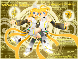 Rin and Len-Append Power by TheBlueMelancholy