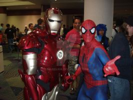 Iron Man and Spider Man by eburel506