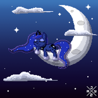 Sleeping Pixel Luna by itsjaytimestwo