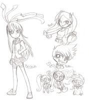 PPnkG Sketches by Natsumi-chan0wolf