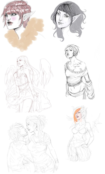 Moar pchat sketches by Tempest-san