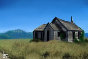 Speed Paint old house by Burninmaned