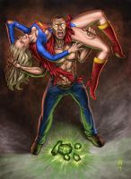 SuperiorGirl vs Nuclearman by Tolousse59