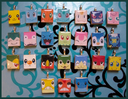 Scrabble Charms - POKEMON
