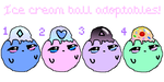 Ice Cream Ball Adoptables(OPEN) by pastelsandbones
