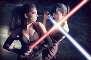Jedi and Sith by laether-mad