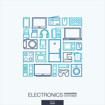 Flat Electronics  Icons Vector by FreeIconsdownload