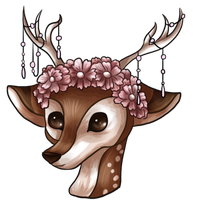 Delicate Floral Fawn by Secrecies