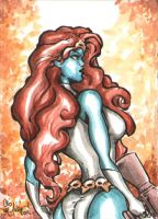 Mystique ACEO 090711 by ChrisMcJunkin