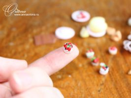 Miniature food by OrionaJewelry